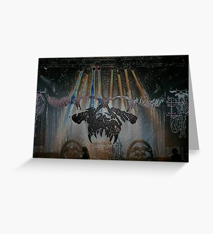 Danzig live in Plastic Greeting Card