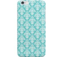 TIFFANY BLUE - DAMASK iPhone Case/Skin
