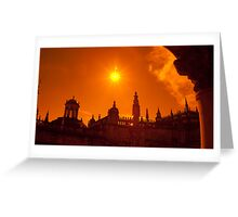 Bright light above the Cathedral  Greeting Card