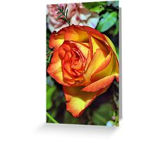 Burning Rose Greeting Card