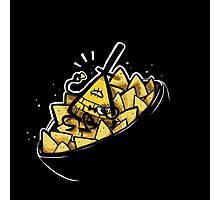 Bill Cipher boss of Doritos Photographic Print