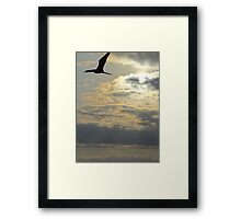 Sailing through the sky - Navegando en el cielo Framed Print