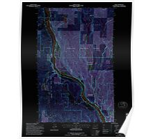 USGS Topo Map Washington State WA Ruby 243533 1992 24000 Inverted Poster