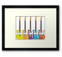 Telecaster Rainbow Framed Print