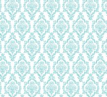 TIFFANY BLUE - DAMASK 2 by MadNic
