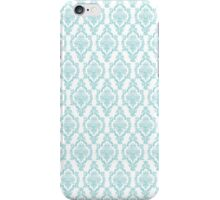 TIFFANY BLUE - DAMASK 2 iPhone Case/Skin