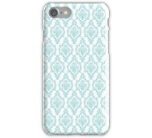 TIFFANY BLUE - DAMASK 2 iPhone Case/Skin
