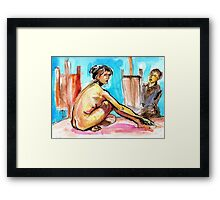 The Model and the painter Framed Print