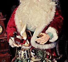 Santa Packing His Bag by Glenna Walker