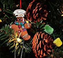 Gingerbread Man & Gumdrops by Glenna Walker