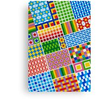Colors With Squares And Dessins - Brush And Gouache Canvas Print