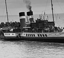 Waverley Paddle Steamer in Monochrome by Steve Purnell