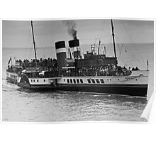 Waverley Paddle Steamer in Monochrome Poster