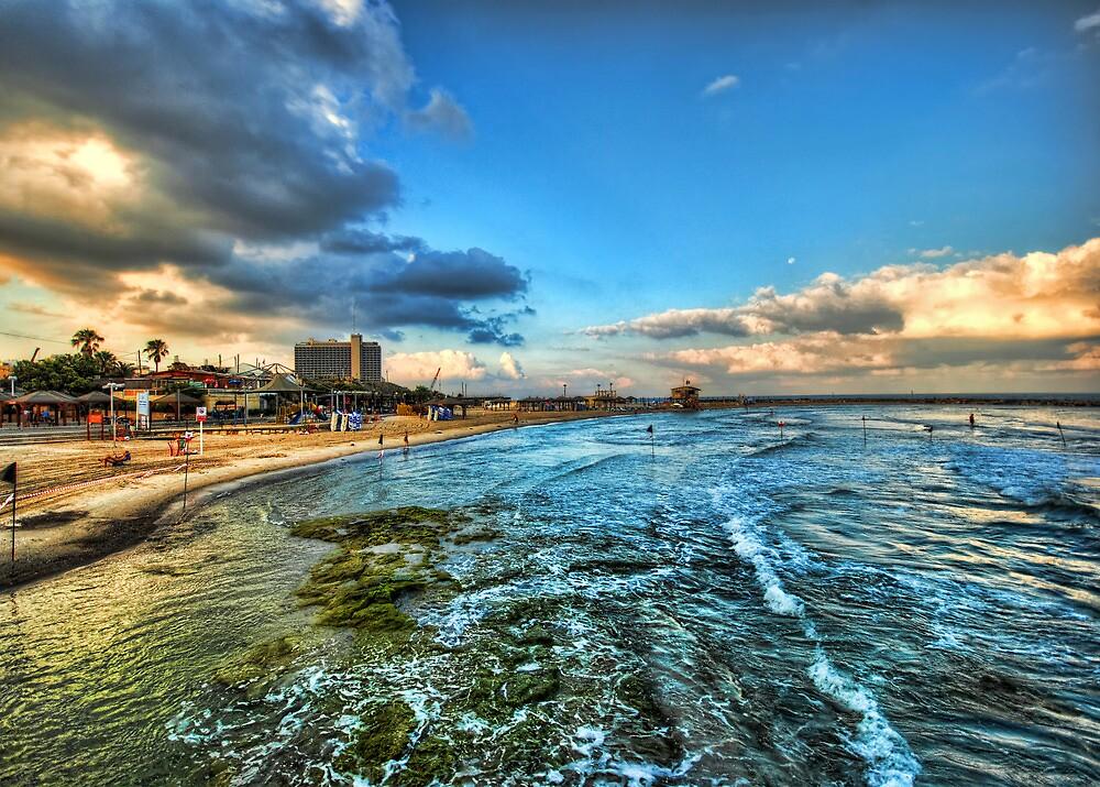 a good morning from HIlton's beach, Tel Aviv by Ronsho