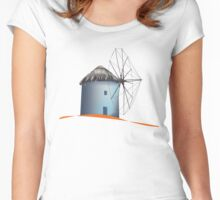 Aegean windmill Women's Fitted Scoop T-Shirt