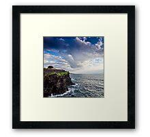 Una terrazza sul mare Framed Print