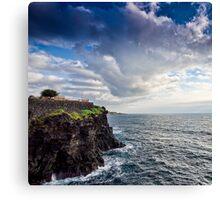 Una terrazza sul mare Canvas Print