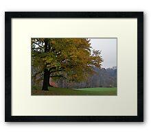 autumns crisp embrace Framed Print