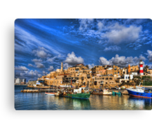 The old port, Jaffa Canvas Print