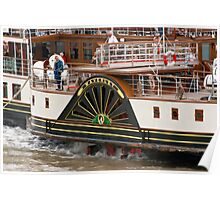 Waverley Paddle Steamer Paddles Poster
