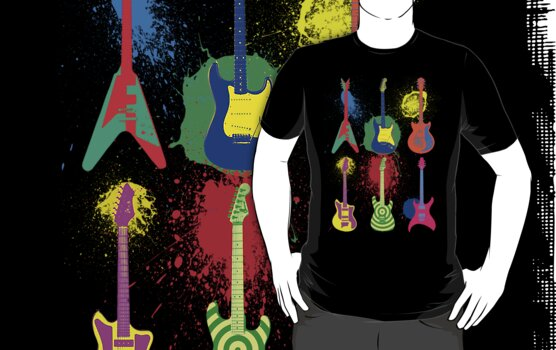 Retro Rock T-Shirt by AlliVanes