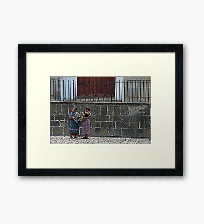 Mayan Women. Framed Print