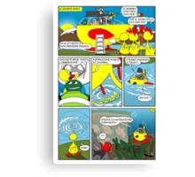 """Rick the chick  """"THE MAGIC SHELL (La partenza) parte 32"""" Canvas Print"""