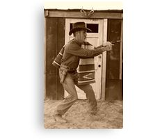 The 999th fastest gun in the west Canvas Print