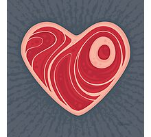 Meat Heart Photographic Print