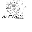 Australia outline and states by Craig Stronner