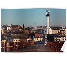 Maryport Harbour Viewed From The Pier Poster