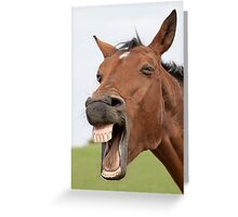 Funny Face Greeting Card