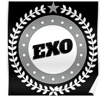 EXO LOGO Badge - White Poster