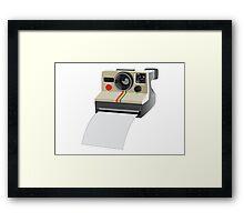 Retro Instant Camera Framed Print