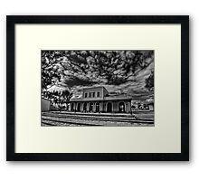 at the haunted station house Framed Print