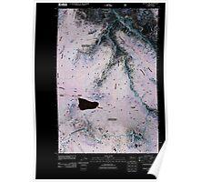 USGS Topo Map Washington State WA Walupt Lake 20110506 TM Inverted Poster