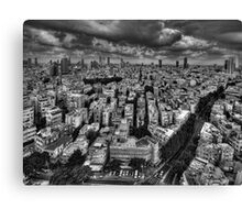 Tel Aviv retro lookout Canvas Print