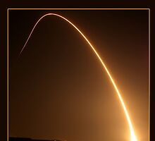 Delta II Rocket w/NPP Satellite by Cathy L. Gregg