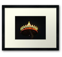 The Crown at night Framed Print