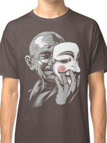 DISOBEY - Gandhi Putting on Guy Fawkes Mask Classic T-Shirt