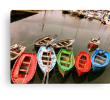 Colours in the Harbour Canvas Print