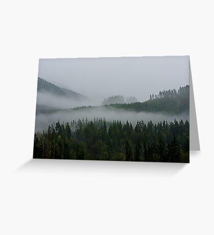 Mountain Fog Greeting Card