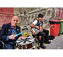 Market Buskers Photographic Print