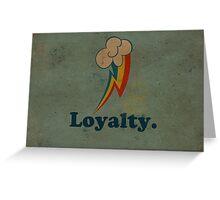 Worn Loyalty Greeting Card