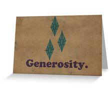 Worn Generosity Greeting Card