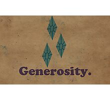 Worn Generosity Photographic Print