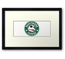 Nightmare Before Coffee - Jack Framed Print