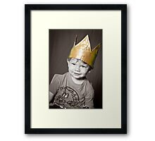 Oliver 2011 with Christmas Crown Framed Print