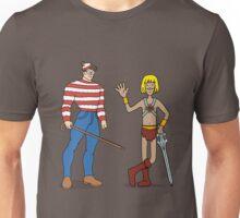 Where's Wal-Man? Unisex T-Shirt