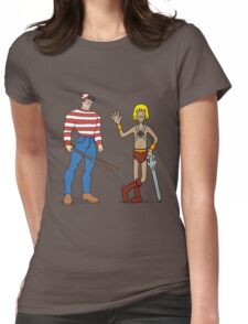 Where's Wal-Man? Womens Fitted T-Shirt